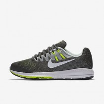 Nike air zoom structure 20 para hombre gris oscuro/platino puro/voltio/blanco_335