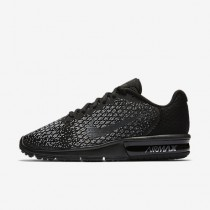 Nike air max sequent 2 para mujer negro/gris oscuro/gris lobo/hematita metálico_100