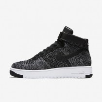 Nike air force 1 ultra flyknit para hombre negro/blanco/negro_175