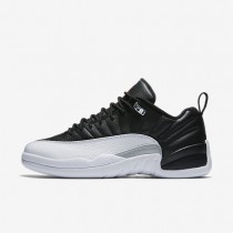 Nike air jordan 12 retro low para hombre negro/blanco/plata metalizado/rojo universitario_210