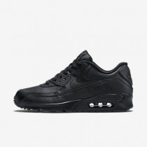 Nike air max 90 leather para hombre negro/negro_624