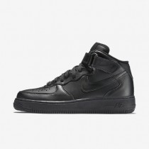 Nike air force 1 mid 07 leather para mujer negro/negro_130
