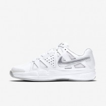 Nike court air vapor advantage clay para mujer blanco/platino puro/plata metalizado_195