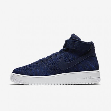 Nike air force 1 ultra flyknit para hombre azul marino universitario/negro/blanco/azul marino universitario_178