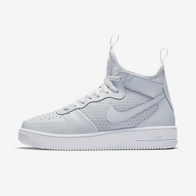 Nike air force 1 ultraforce mid para hombre platino puro/blanco/platino puro/platino puro_184