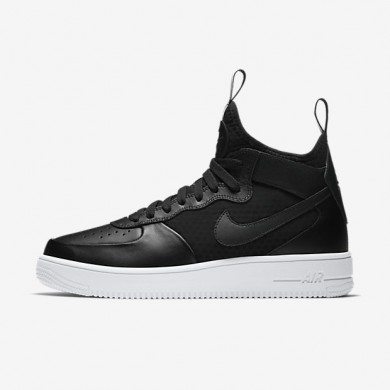 Nike air force 1 ultraforce mid para hombre negro/blanco/negro_182