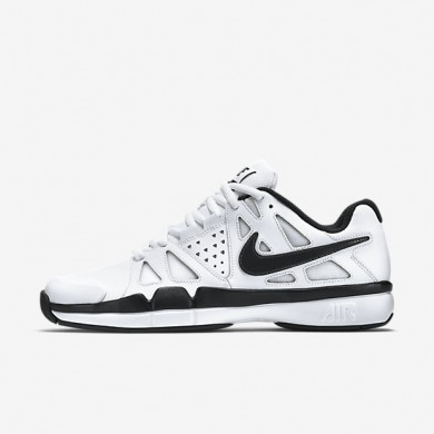 Nike air vapor advantage leather para hombre blanco/gris oscuro/negro_463