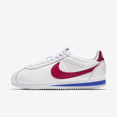 Nike classic cortez leather qs para mujer blanco/royal universitario/rojo universitario/rojo universitario_227